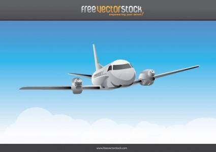 free vector Airplane in the sky