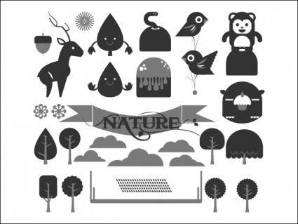 free vector Happy Forest Vector Pack