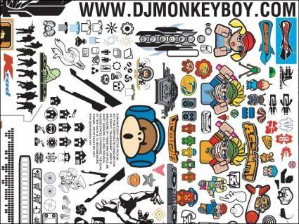 free vector Monkey's Big Vector Pack