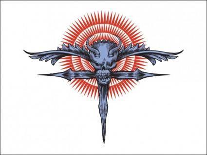 free vector Religious Skull