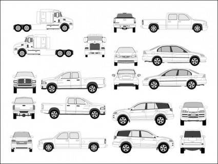free vector Pro Vehicle Outlines