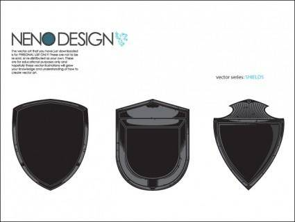 free vector Shields