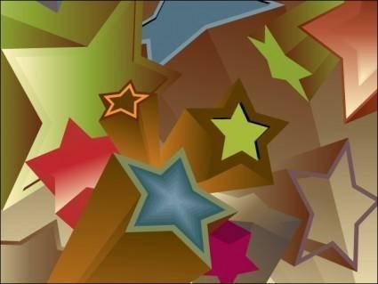 free vector Vintage 3D Stars
