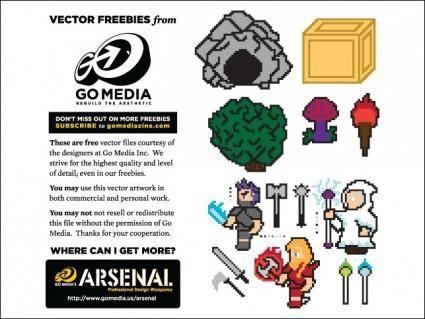 free vector 8-bit Vector Freebies