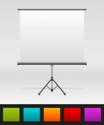free vector Ppt curtain vector