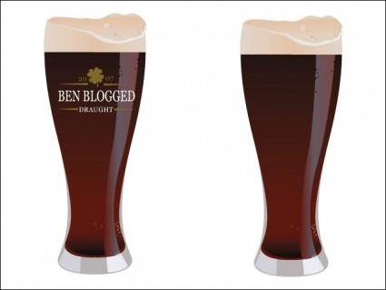 free vector St. Patrick's Day Vector – Beer Glass