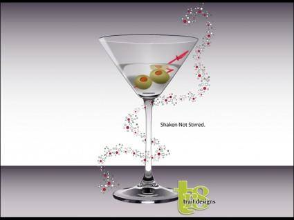 Vector Martini Glass