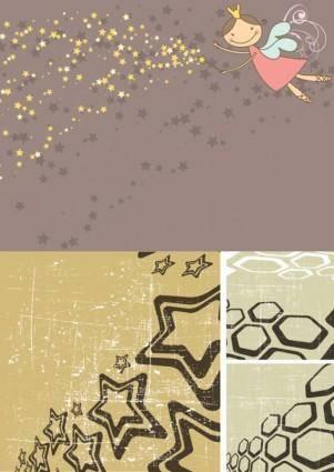 Stars lovely illustrations vector