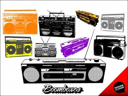 free vector Boomboxes