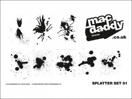 free vector Splatter Set 1