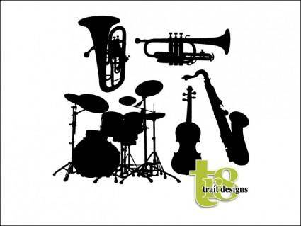free vector Vector Musical Instruments