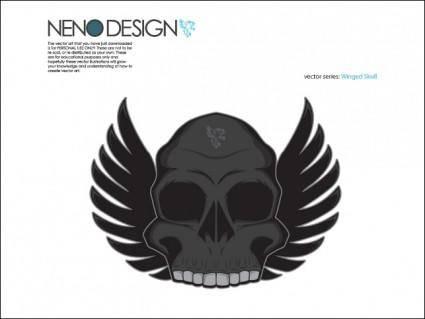 free vector Winged Skull
