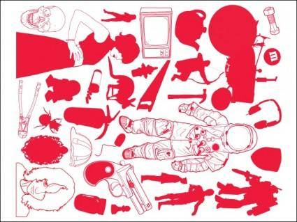 free vector Random Objects