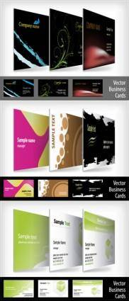 free vector 9 beautifully designed card templates vector