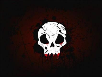 free vector Skull Wallpaper Vector