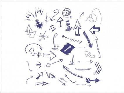 free vector Hand Drawn Arrows