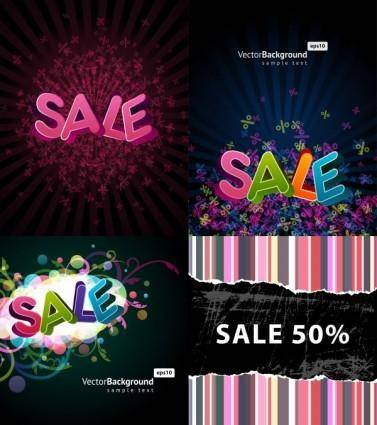 free vector Beautiful font design posters vector