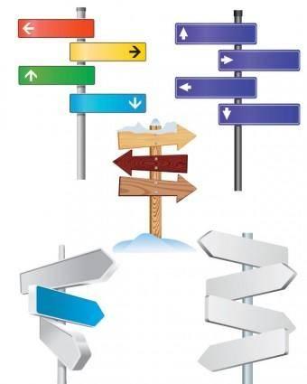 Fine signpost vector