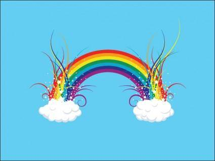 free vector Rainbow in the Clouds