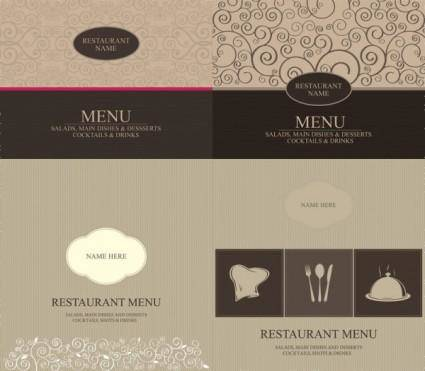 Western menu cover vector