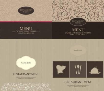 free vector Western menu cover vector