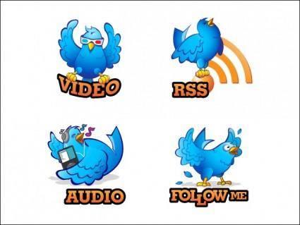 free vector Twittgeons