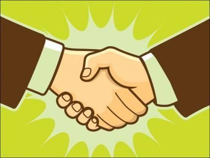 free vector Handshake