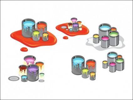 free vector Paint Cans