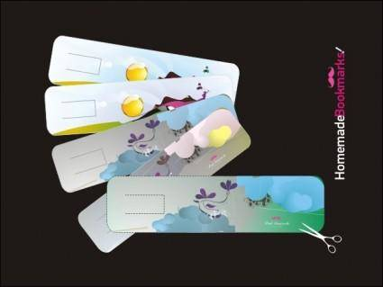 free vector Handmade Bookmarks