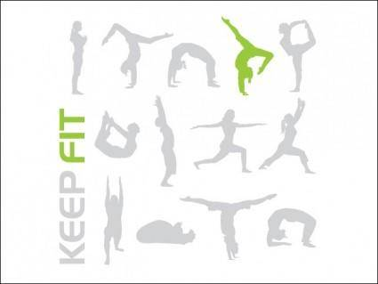 free vector Keep Fit