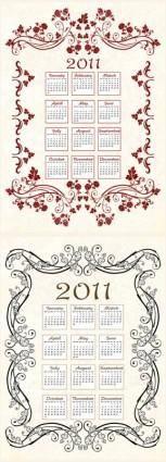 free vector 2011 calendar template 05 vector