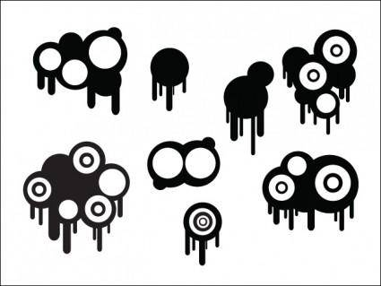 free vector Circles And Drips