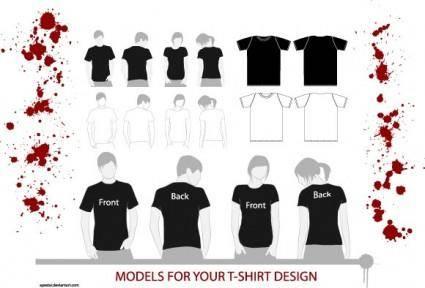 free vector T-Shirt Models