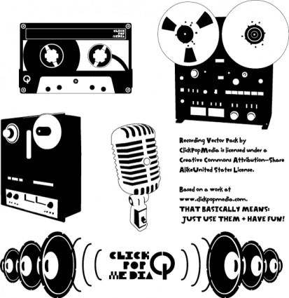 free vector Recording Pack