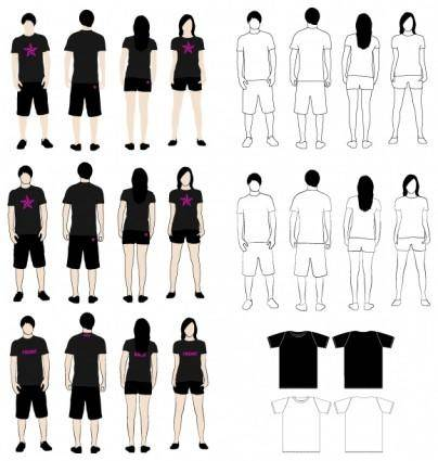 free vector T-Shirt Models 2
