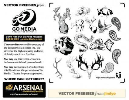 free vector Vector Freebie from jimiyo: Animals
