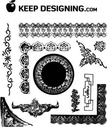 free vector Antique Frames and Ornaments