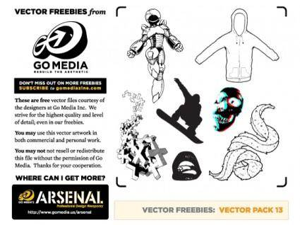 free vector FREEBIES Vector Pack 13