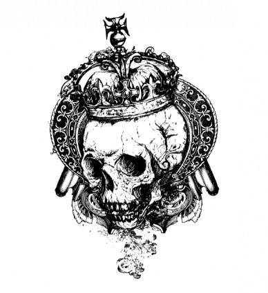 free vector Free Vector Grunge Skull