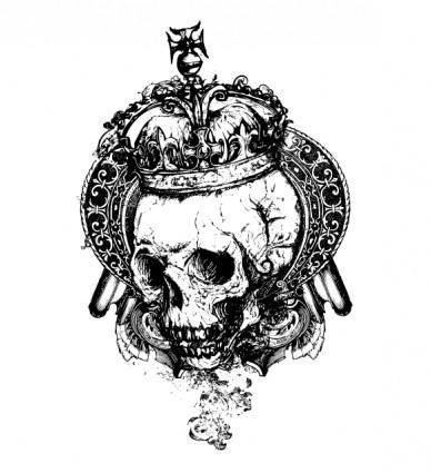 Free Vector Grunge Skull