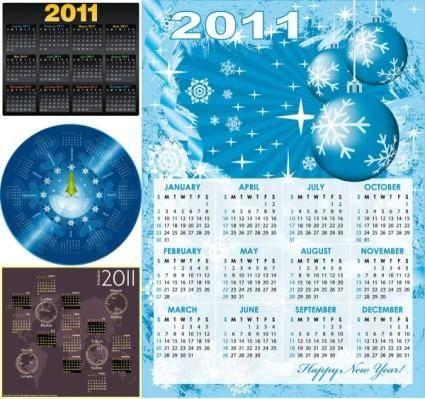 free vector 2011 calendar template vector