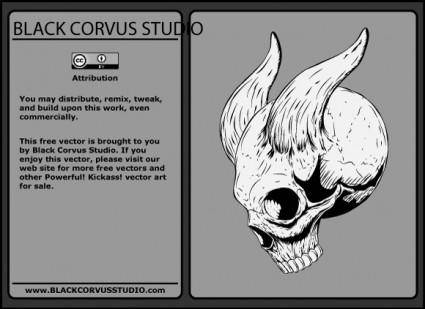 free vector Skull with Horns