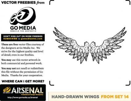 free vector Hand Drawn Wings