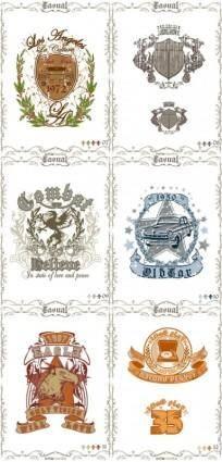 Classic europeanstyle nostalgia posters 06 vector