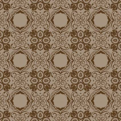 free vector Brown Seamless Wallpaper