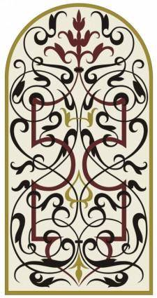 free vector Marquetry ornament