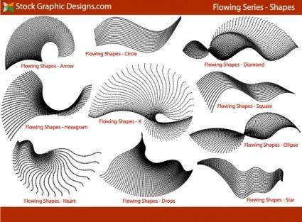 free vector Flowing Shapes