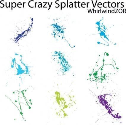 free vector Super Crazy Splatter Vectors