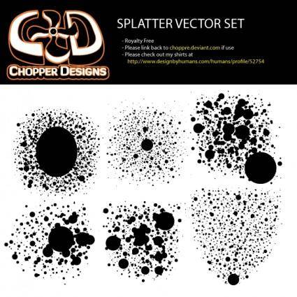 free vector ChopperDesigns Splatter Vector Set