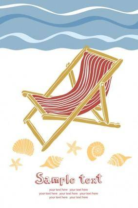 free vector Summer beach holidays vector 5